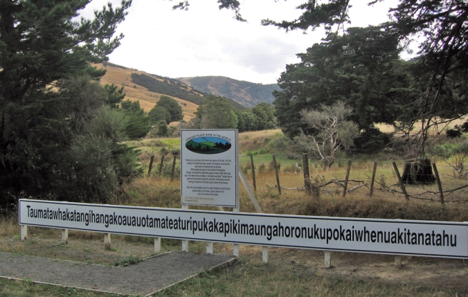 "Although I now have a strange desire to go here. The rough translation: ""The summit where Tamatea, the man with the big knees, the climber of mountains, the land-swallower who travelled about, played his nose flute to his loved one""."