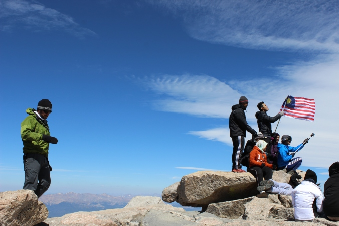 A group of Malaysians also summited