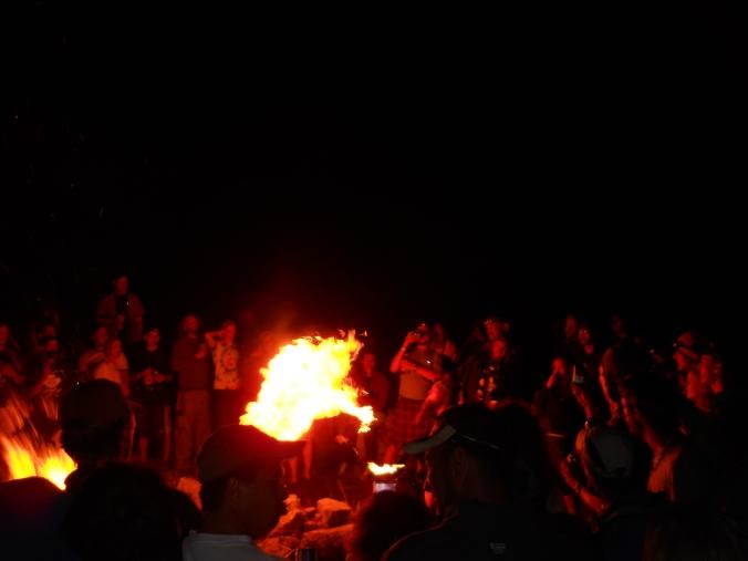 Tent City Bonfire