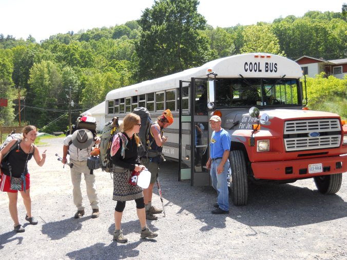 "The ""Cool Bus"" provided by the First Baptist Church"